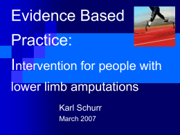 Evidence Based Intervention