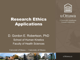 Research Ethics Application