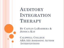 Auditory Integration Research