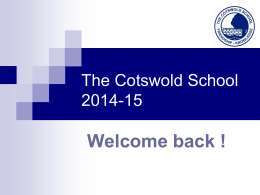 The Cotswold School 2014-15
