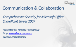 Comprehensive Security for Microsoft Office SharePoint …