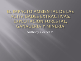 El impacto ambiental de las actividades extractivas