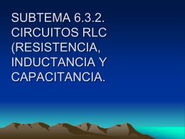 SUBTEMA 6.3.2. CIRCUITOS RLC (RESISTENCIA, …