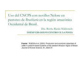 Uso del CNCPS con novillos Nelore en pastoreo de