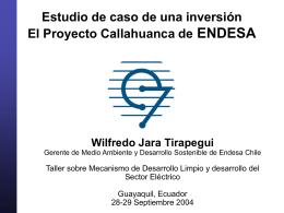 Estudio de caso: Proyecto Callahuanca de ENDESA