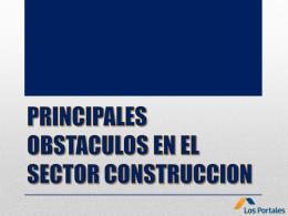PRINCIPALES OBSTACULOS ENE EL SECTOR …