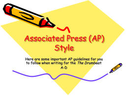 Associated Press (AP) Style