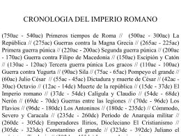 CRONOLOGIA DEL IMPERIO ROMANO