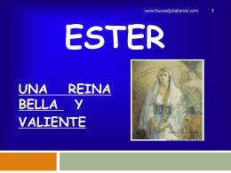 ESTER - Iglesia de Cristo