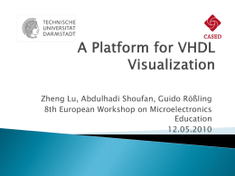 A Platform for VHDL Visualization