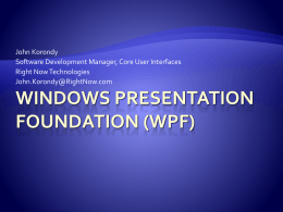 Windows presentations foundation