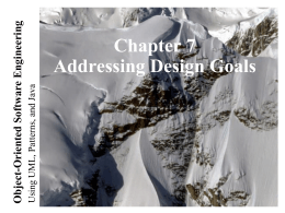Lecture for Chapter 7, System Design: Addressing Design …