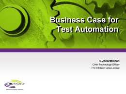 Business Case for Test Automation