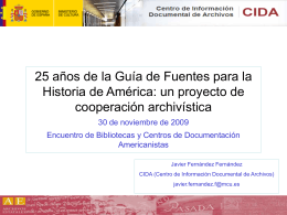 CENTRO DE INFORMACION DOCUMENTAL DE ARCHIVOS