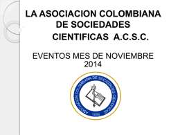 ASOCIACION COLOMBIANA DE SOCIEDADES CIENTIFICAS
