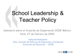 School leadership & Teacher Policy