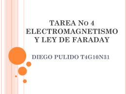 TAREA No 4 ELECTROMAGNETISMO Y LEY DE FARADAY