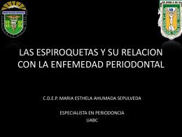 PERIODONTITIS Y SU RELACION CON LAS ESPIROQUETAS