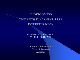 PROYECTO DE LEY DE FIDEICOMISOS