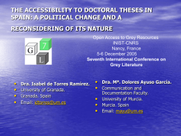 THE ACCESSIBILITY TO DOCTORAL THESES IN SPAIN: A …
