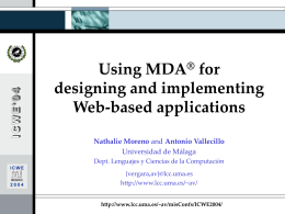 MDA Tutorial at ICWE 2004
