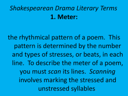 Shakespearean Drama Literary Terms