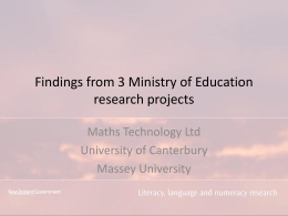 Reporting on literacy, language and numeracy research