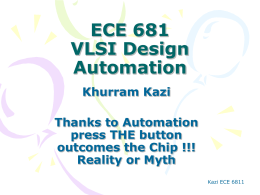 ECE 681 VLSI Design Automation