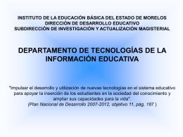 Diapositiva 1 - Escuelas de Calidad Morelos