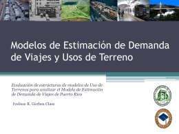 Travel Demand Forecasting and Land Use Models