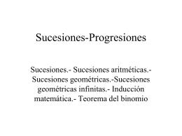 Sucesiones-Progresiones
