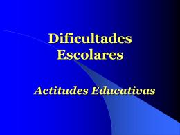 Dificultades Escolares