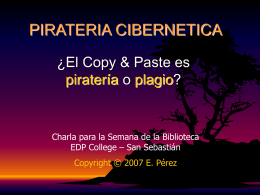 PIRATERIA CIBERNETICA