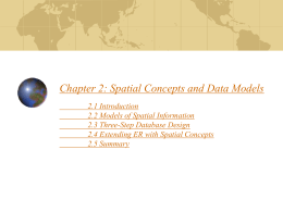 Spatial Concepts and Data Models