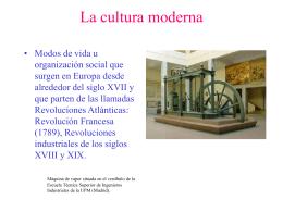 La cultura moderna