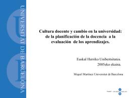 Cultura docente y cambio en la universidad: de la