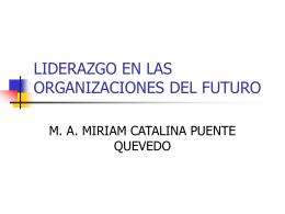 LIDERAZGO EN LAS ORGANIZACIONES DEL FUTURO