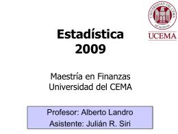 Ejercicios AR - Universidad del CEMA
