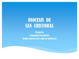 DIOCESIS DE SAN CRISTOBAL