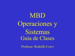MBD Operaciones y Sistemas