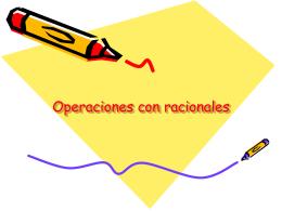 Operaciones con racionales