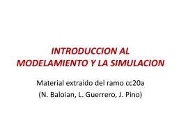 INTRODUCCION AL MODELAMIENTO Y LA SIMULACION