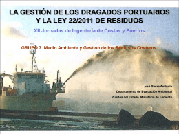 La gestion de los dragados portuarios y la ley 22 2011 de