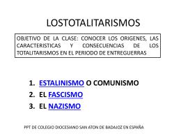 LOSTOTALITARISMOS