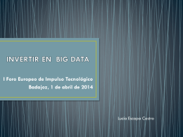 INVERTIR EN BIG DATA