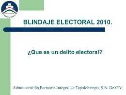 BLINDAJE ELECTORAL 2010.