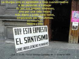 CUARESMA III domingo -B-