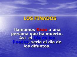 LOS FINADOS