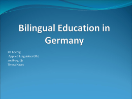 Bilingual Education in Germany