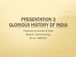 Presentation 3 Glorious History Of India